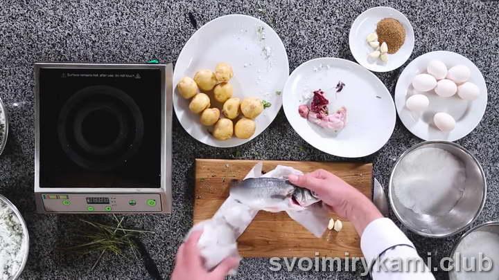 рыба в соли в духовке поэтапный рецепт