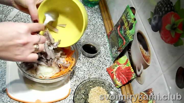селедка хе рецепт с морковкой