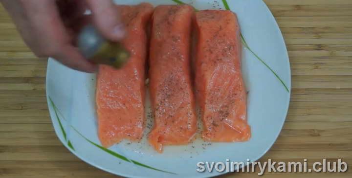 семга в духовке рецепт