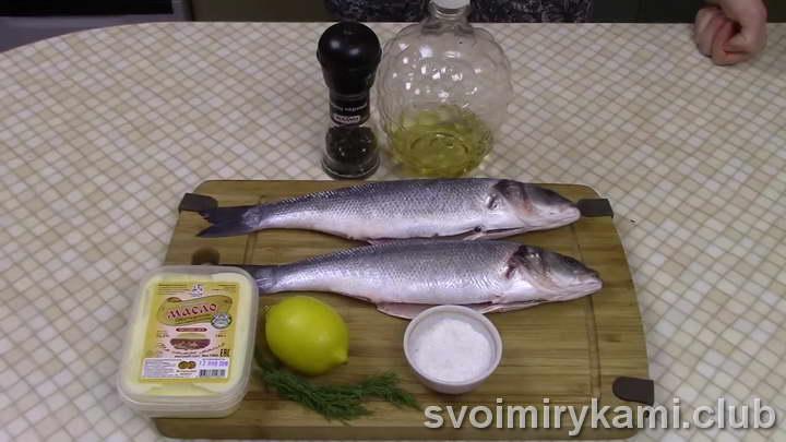 сибас в духовке рецепты