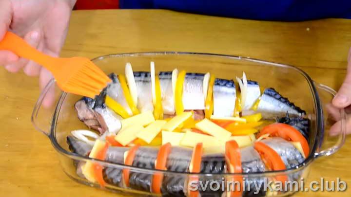 скумбрия с овощами пошагово