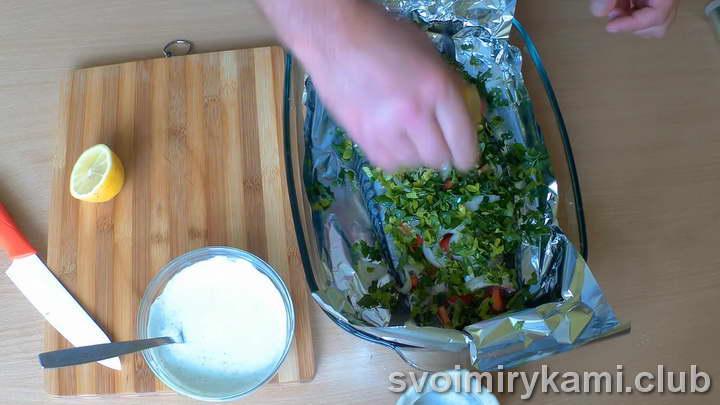 скумбрия с овощами в духовке как приготовить пошагово