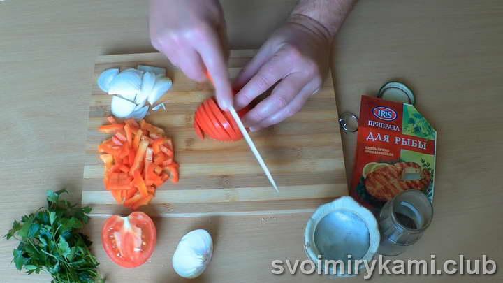 скумбрия с овощами в духовке рецепты с фото