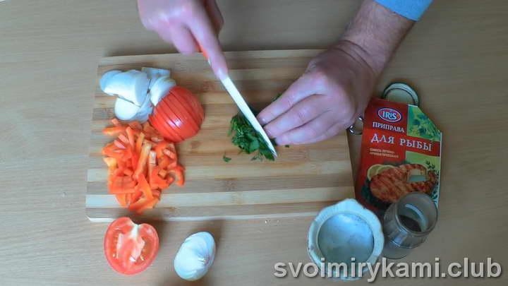 скумбрия с овощами в духовке пошаговый рецепт
