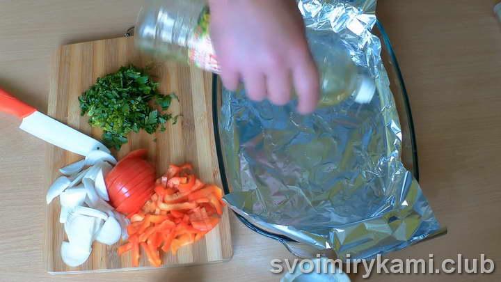 скумбрия с овощами в духовке пошаговый рецепт с фото