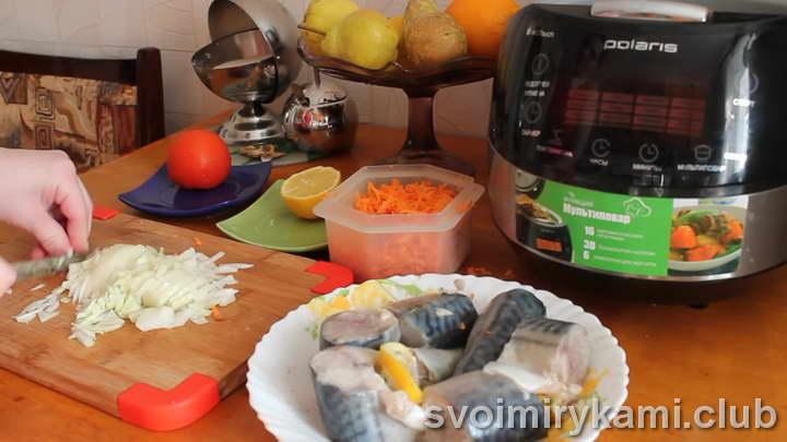 скумбрия в мультиварке рецепт с морковкой