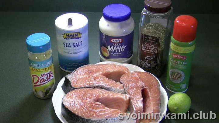 стейк из лосося в духовке рецепт