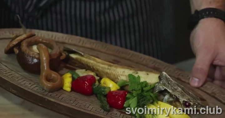 стерлядь рецепт со свежими овощами