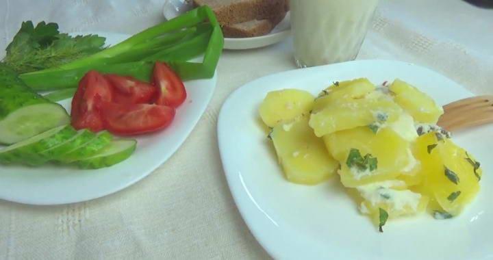 Треска с картошкой, запеченная в молоке в духовке