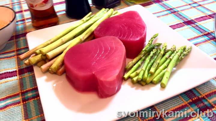 тунец на гриле рецепт