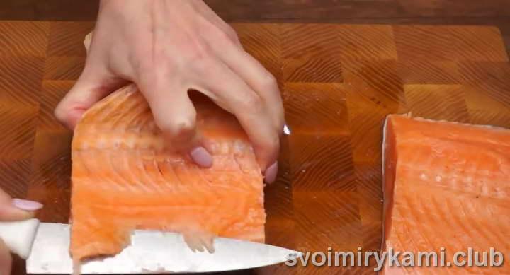 засолка красной рыбы рецепт