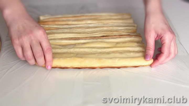 десерт из слоеного теста пошаговый рецепт