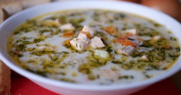 Финский суп с лососем и сливками — очень вкусно и просто🍲