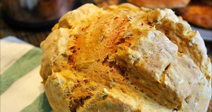 Домашний хлеб в духовке на кефире без дрожжей и без яиц🍞