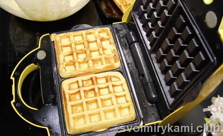 пошаговый рецепт вафель для электровафельницы мягкие