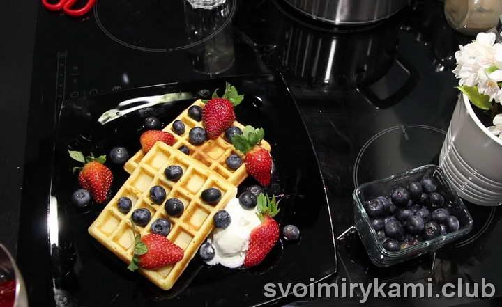 рецепт вафель для электровафельницы мягкие видео