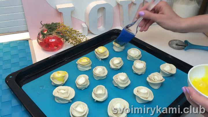 розочки из слоеного теста пошаговый рецепт с фото