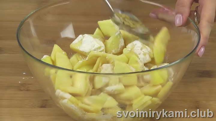 штрудель с яблоками из слоеного теста пошаговый рецепт