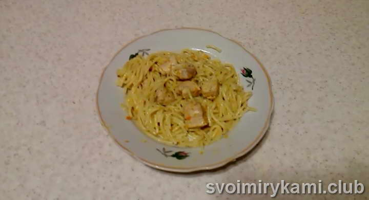 спагетти в мультиварке видео