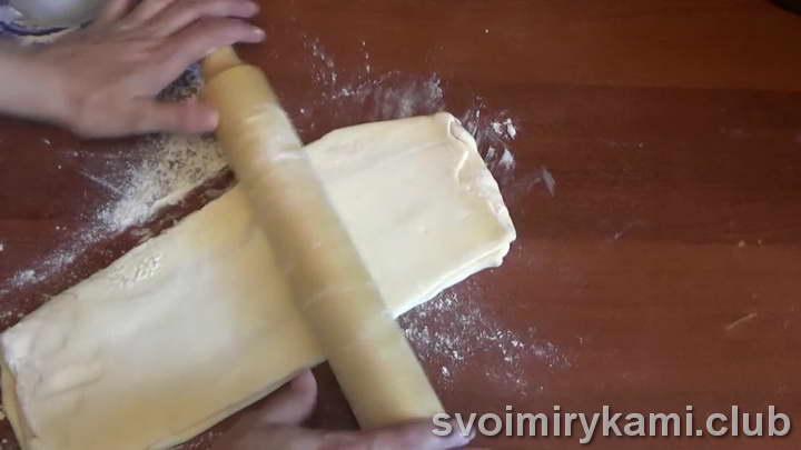тесто слоеное бездрожжевое рецепт быстрый пошагово с фото
