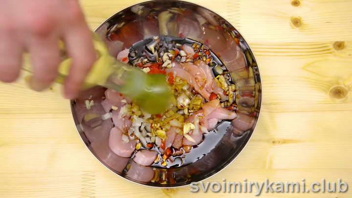 вок лапша с курицей и овощами пошаговый рецепт