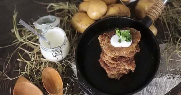 Совершенствованный рецепт белорусских драников с фаршем 🥔