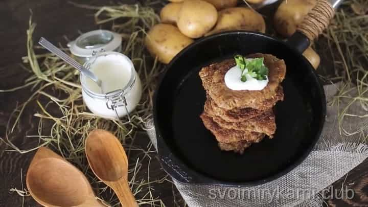 Совершенствованный рецепт белорусских драников с фаршем
