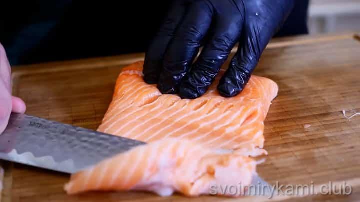 Для приготовления блюда подготовьте рыбу