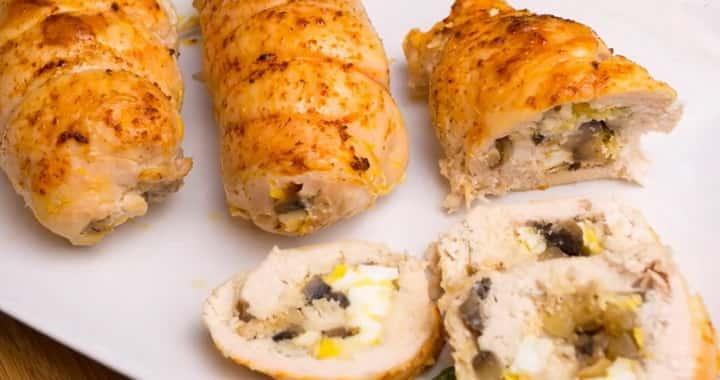 Очень вкусные куриные рулеты с грибами 🍗