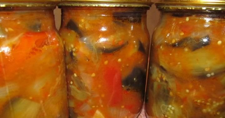 Салат «Десяточка» из баклажанов на зиму 🥫