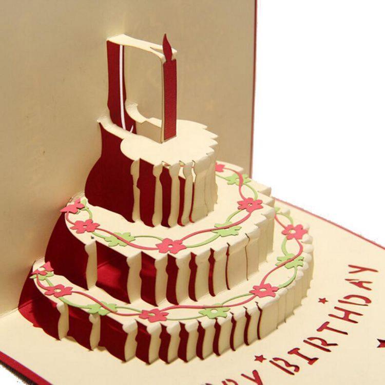 Открытка торт как сделать