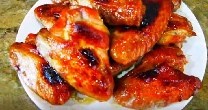 Вкусная и ароматные крылышки в медово-горчичном соусе 🍗