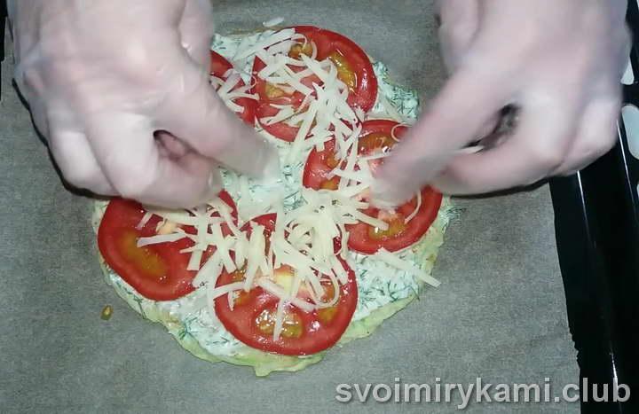 Раскладываем кружки помидор