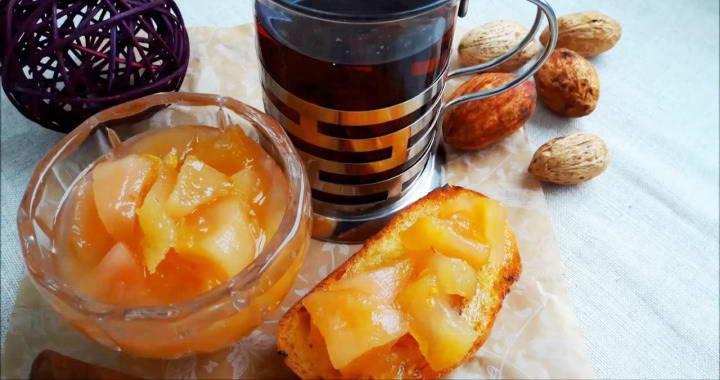Вкусный конфитюр из груш с лимоном, имбирем, розмарином🍐