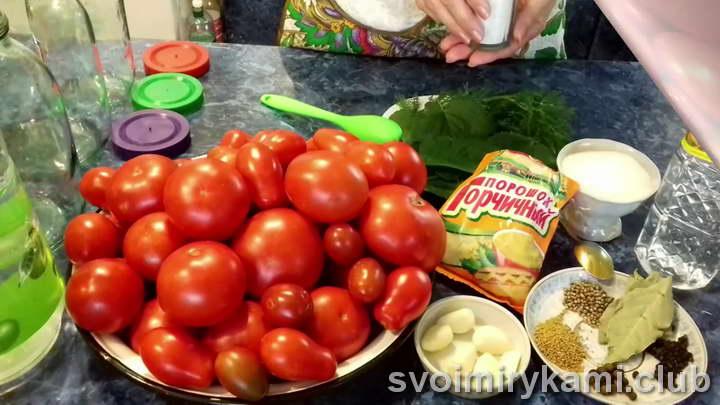 тщательно промываем помидоры