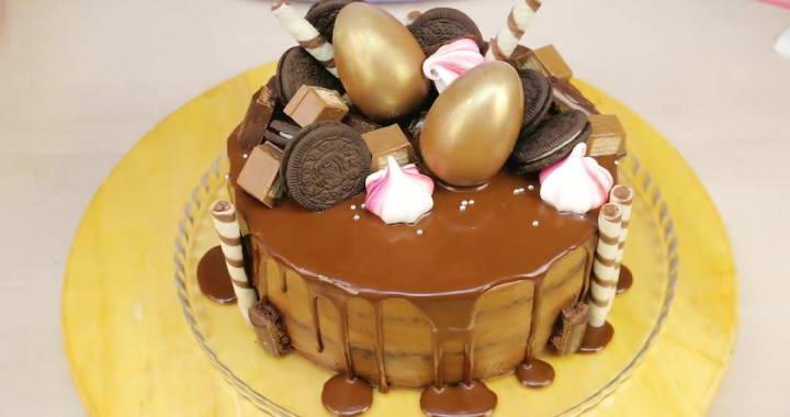 Мега шоколадный торт на День Рождения!