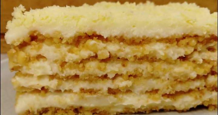 Невероятно вкусный и нежный торт Пломбир без духовки🍰