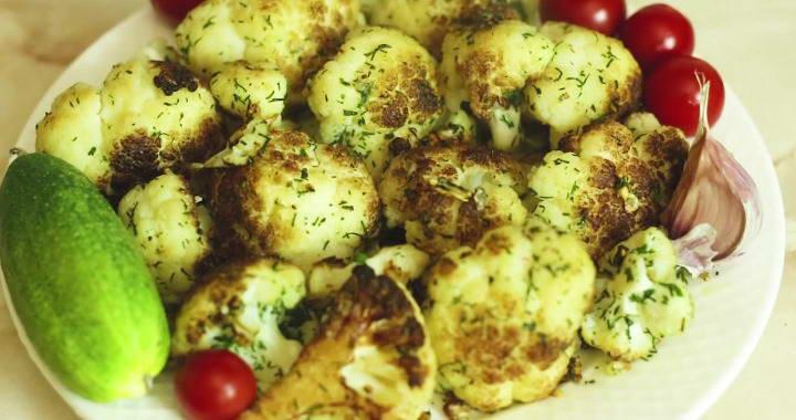 Рецепт приготовления цветной капусты без кляра на сковороде菱