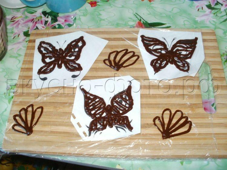 Рисунок шоколадом на торте своими руками