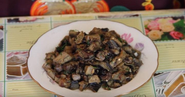 Вкусные баклажаны с грибной приправой 