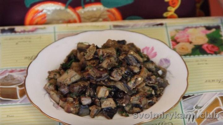 баклажаны с грибной приправой получаются очень вкусными.