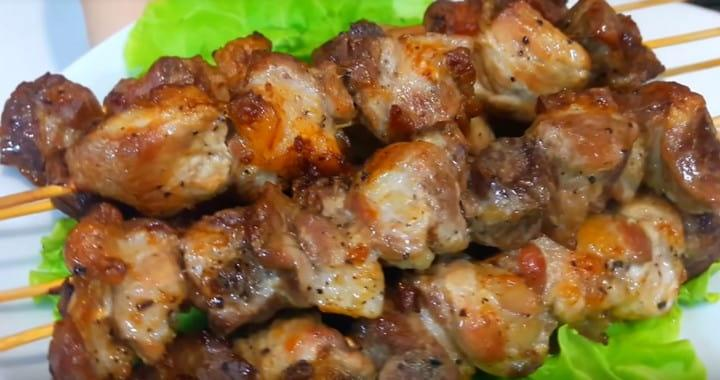 Нежный шашлык в духовке 🥝 из свинины