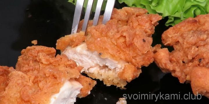 Курица в кляре по простому пошаговому рецепту с фото