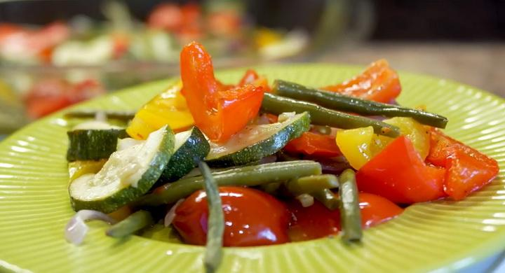 Вкусные и полезные запеченные 🥝 овощи в духовке