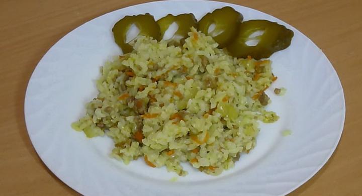 Готовим вкусный рис 🥝 с фаршем