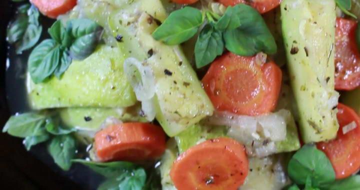 Вкусные тушеные кабачки 🥝 с овощами на сковороде