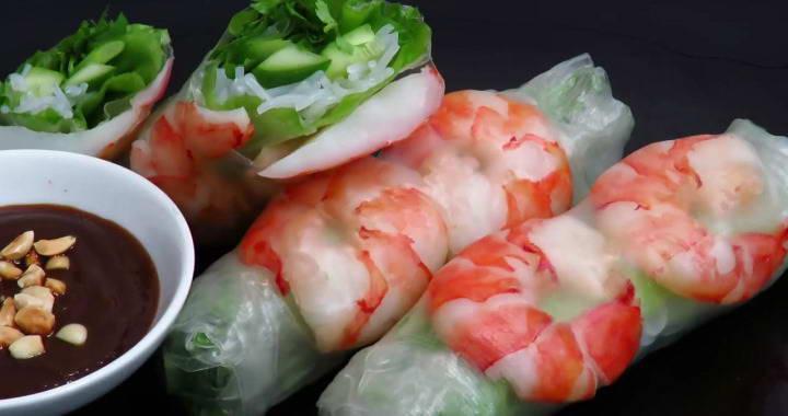 Супер вкусные роллы 🥝 на закуску — вьетнамская кухня