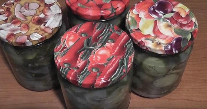 Салат из огурцов 🥝 с луком на зиму