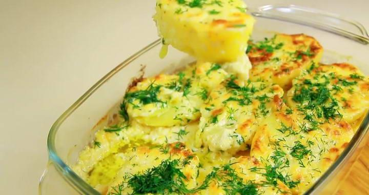 Гарнир к мясу из картошки 🥝 с чесноком и сыром